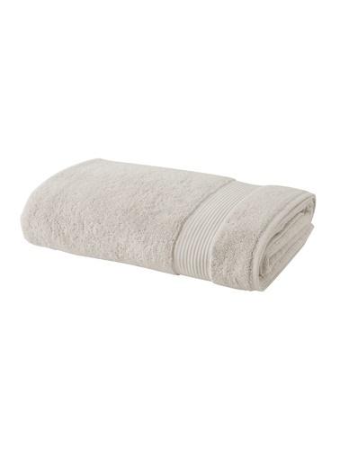 Bella Maison %100 Pamuk Premium Beyaz Banyo Havlusu (90x150 cm) Ekru